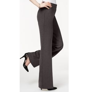 NWT Style & Co Deep Gray Stretch Wide-Leg Pants 6L